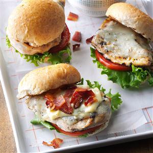 Bacon & Swiss Chicken Sandwiches Recipe