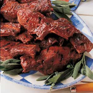 Barbecued Sage Spareribs Recipe