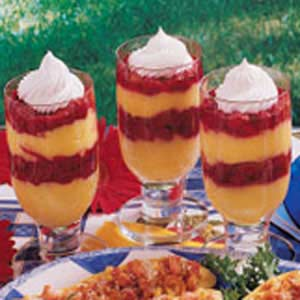 Raspberry Pudding Parfaits Recipe