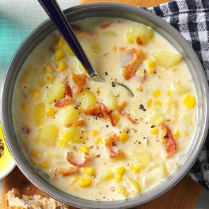 Bacon-Potato Corn Chowder Recipe
