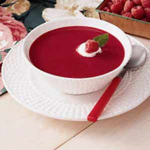 Cool Raspberry Soup Recipe