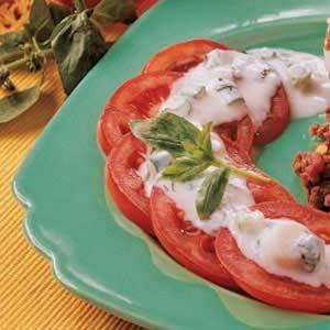 Tomatoes with Basil-Garlic Dressing Recipe