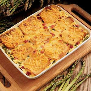 Asparagus Cheese Strata Main Dish Recipe