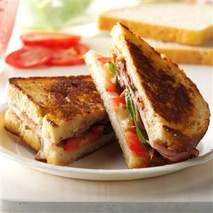 Grilled Pesto Ham and Provolone Sandwiches Recipe