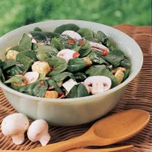 Fresh Mushroom Spinach Salad Recipe