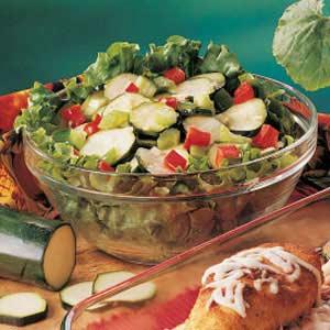 Sweet-Sour Zucchini Salad Recipe