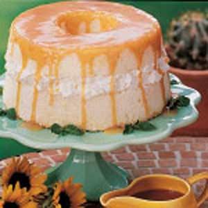 Angel Food Cake With Caramel Sauce Recipe Taste Of Home
