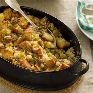 Sausage & Corn Bread Dressing Recipe