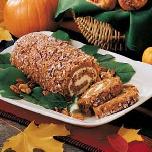 Nutty Pumpkin Cake Roll Recipe