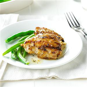 Maple-Thyme Chicken Thighs Recipe
