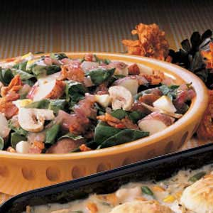 Spinach Salad with Red Potatoes Recipe