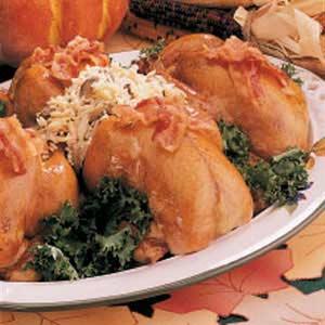 Stuffed Corn-ish Hens Recipe