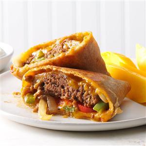 Fajita Burger Wraps Recipe