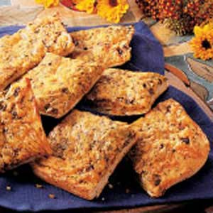 Cheesy Herbed Snack Squares Recipe
