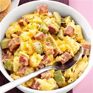 Ham and Avocado Scramble Recipe