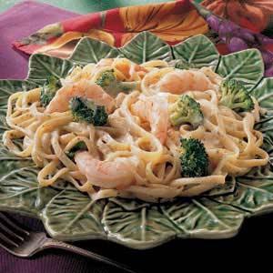 Herbed Shrimp Fettuccine Recipe