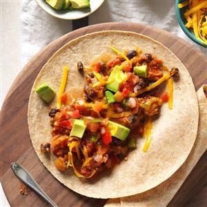 Vegetarian Bean Tacos Recipe