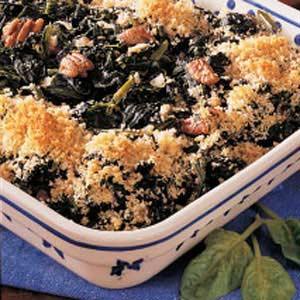 Spinach Pecan Bake Recipe