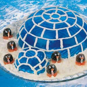Ice Blue Igloo and Penguins Recipe