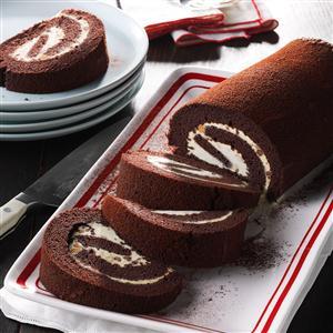 Peanut Butter-Chocolate Cake Rolls Recipe