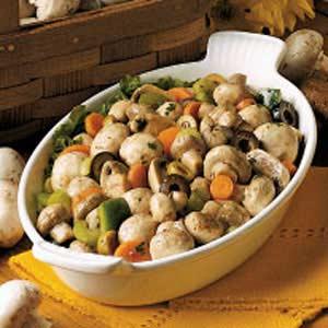 Savory Marinated Mushroom Salad Recipe