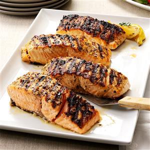 Grilled Lemon-Garlic Salmon Recipe