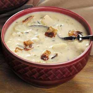 Cheesy Wild Rice Soup Recipe
