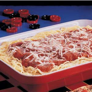 Three-Cheese Spaghetti Bake Recipe