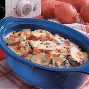 Spinach Potatoes Au Gratin Recipe