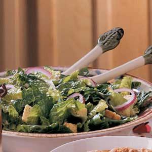 Flavorful Lemony Caesar Salad Recipe