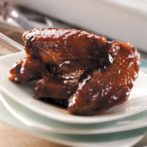 Raspberry Glazed Wings Recipe