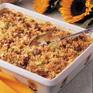 Baked Rice with Sausage Recipe