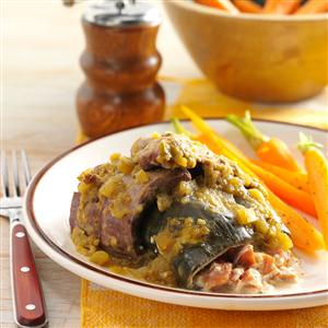 Beef-Wrapped Stuffed Peppers Recipe