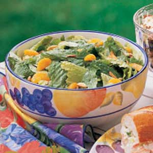 Romaine with Oranges and Almonds Recipe