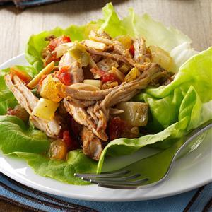 Pork Picadillo Lettuce Wraps Recipe