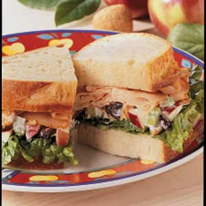 Apple-Walnut Turkey Sandwiches Recipe