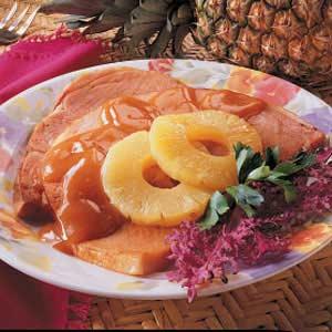 Glazed Ham Slice Recipe
