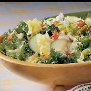 Salad with Egg Dressing Recipe