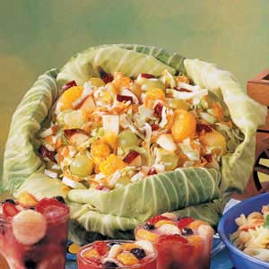 Fruit Slaw in a Cabbage Bowl Recipe