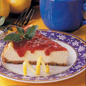 Rhubarb-Topped Cheesecake Recipe