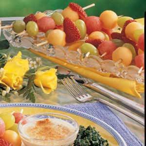 Fruit Kabobs with Dip Recipe