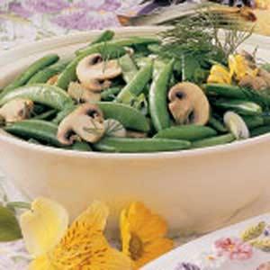 Snappy Peas 'n' Mushrooms Recipe