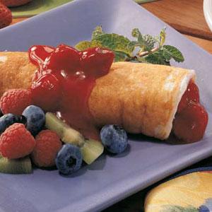 Fruit Pancake Roll-Ups Recipe