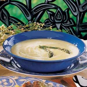 Asparagus Brie Soup Recipe