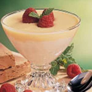 Marshmallow Cream with Custard Sauce Recipe