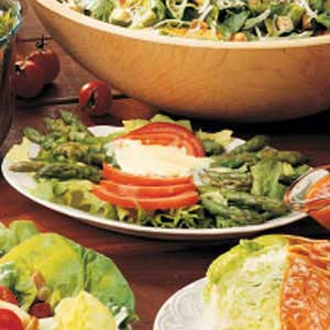 Creamy Dressing Over Asparagus Recipe