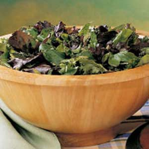 Greens with Herb Dressing Recipe