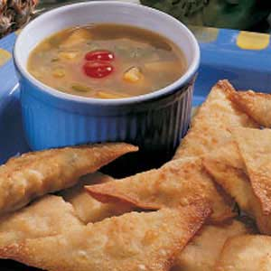 Wontons with Sweet-Sour Sauce Recipe