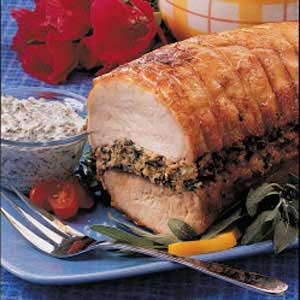 Pork Loin with Spinach Stuffing Recipe