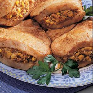Corn-Stuffed Butterfly Chops Recipe